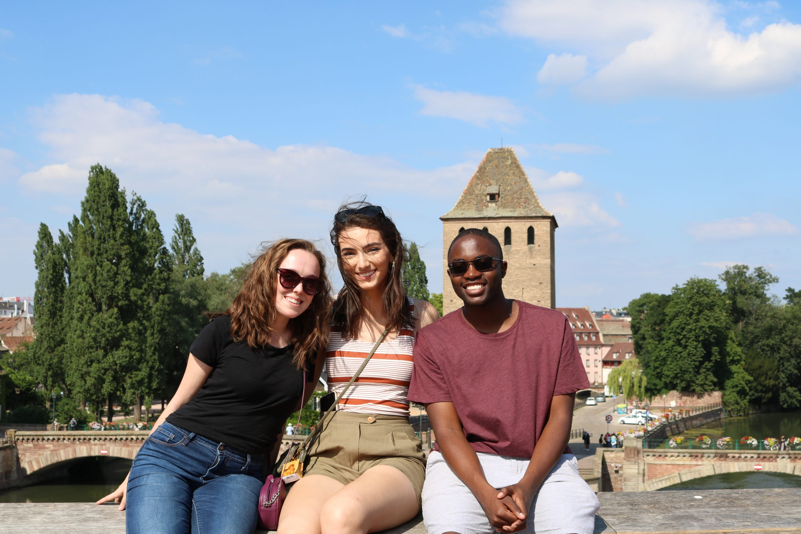 Strasbourg Students at Ponts Couverts